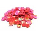 PAH-7MM-26 - (1.10 grame) Paiete hexagonale roz bombon efect AB 7mm