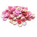 PAH-7MM-27 - (1.10 grame) Paiete hexagonale roz efect AB 7mm