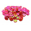 PAH-7MM-29 - (1.10 grame) Paiete hexagonale rosu zmeura efect AB 7mm