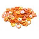 PAH-7MM-30 - (1.10 grame) Paiete hexagonale portocaliu corai efect AB 7mm
