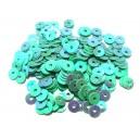 PAR-4MM-01 - (2.75 grame) Paiete rotunde verde turcoaz efect AB 4mm