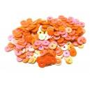 PAR-4MM-08 - (2.75 grame) Paiete rotunde portocaliu corai efect AB 4mm