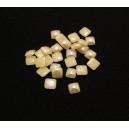 CSCP-P4-5*4-5mm-23 - (10 buc.) Cabochon sticla patrat caisa pal perlat 10*10mm - STOC LIMITAT!