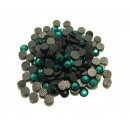 SLC4mm-07 - (10 buc.) Strasuri hotfix verde smarald 4mm