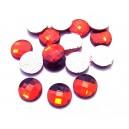 SLC02-05 - Strasuri hotfix rotunde rosii 10mm
