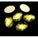 SLC09-02 - Strasuri hotfix ovale verde crud 14*10mm