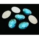 SLC09-03 - Strasuri hotfix ovale bleu 14*10mm