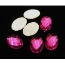 SLC09-04 - Strasuri hotfix ovale roz fucsia 14*10mm