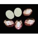 SLC09-05 - Strasuri hotfix ovale roz 14*10mm