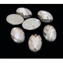 SLC09-07 - Strasuri hotfix ovale clear 14*10mm