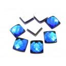 SLC15 - Strasuri lipire la cald patrate albastru royal 10*10mm