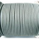 SPOL1.7mm-01 - (1 metru) Snur poliester cerat gri usor verzui 1.7mm