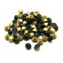 STR5.0mm - (10 buc.) Strasuri conice cristale verde smarald 5mm
