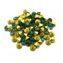 STR5.0mm - (10 buc.) Strasuri conice cristale verde marin 5mm