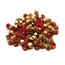 STR5.0mm - (10 buc.) Strasuri conice cristale rosii 5mm