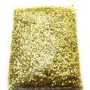 DISPONIBIL 1 PUNGA 15.24 GRAME - PAR1-1.5MM-16 - Paiete rotunde fara gaura auriu pal 1-1.5mm