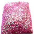 DISPONIBIL 1 PUNGA 11.37 GRAME - PAR1-1.5MM-25 - Paiete rotunde fara gaura roz zmeura efect AB 1-1.5mm