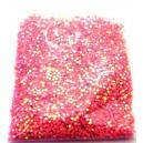 DISPONIBIL 1 PUNGA 8.59 GRAME - PAR1-1.5MM-26 - Paiete rotunde fara gaura roz bombon efect AB 1-1.5mm