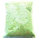 DISPONIBIL 1 PUNGA  GRAME - PAR1-1.5MM-40 - Paiete rotunde fara gaura verde fistic efect AB 1-1.5mm