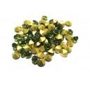 STR5.0mm - (10 buc.) Strasuri conice cristale verde olive 5mm