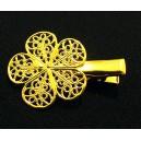 AGR66 - Agrafa clips floare aurie 32*26mm
