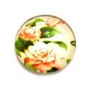 DISPONIBIL 6 BUCATI - CSP12mm-A-100 - Cabochon sticla print flori 12mm - STOC FOARTE LIMITAT!!!