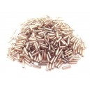 MT-39 - (19 grame) Margele nisip tub crem rose cu miez argintiu  6mm