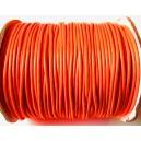SPOL2mm-26 - (1 metru) Snur poliester cerat portocaliu neon 2mm