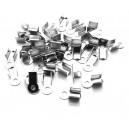 CM100 - (20 buc.) Capat snur argintiu inchis 9*3.5mm
