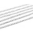 LAI27 - (1metru) Lant argintiu inchis 3.8*2.3*0.5mm - zale rasucite