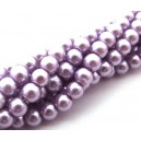 PS6mm-60 - (10 buc.) Perle sticla mov pal lila sfere 6mm