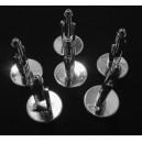 DISPONIBIL 3 PERECHI - BU04DEF - (1 pereche) Butoni camasa argintii 26*16mm/14mm