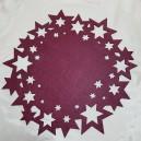 DISPONIBIL 11 BUCATI - Suport visiniu cu stelute pentru farfurie 40cm