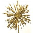 Ornament brad fulg zapada auriu 14cm
