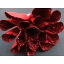 Floare rosie din hartie 8cm - Craciun