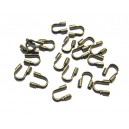 WG-03 - (10 buc.) Protectie sarma/wire guardian bronz antic  5*4mm