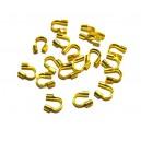 WG04 - (10 buc.) Protectie sarma/wire guardian aurie 5*4mm