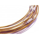 CSC35 - Colier sarma siliconata mustar gold 44cm