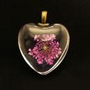 PFU-B-05 - Pandantiv flori uscate inima 31*25mm