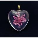 PFU-B-07 - Pandantiv flori uscate inima 31*25mm