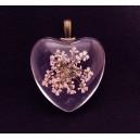 PFU-B-08 - Pandantiv flori uscate inima 31*25mm