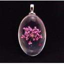 PFU-C-07 - Pandantiv flori uscate oval 37*20mm