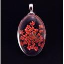 PFU-C-09 - Pandantiv flori uscate oval 37*20mm