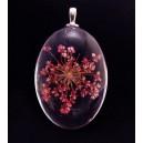 PFU-D-05 - Pandantiv flori uscate oval 42*25mm