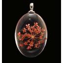 PFU-D-08 - Pandantiv flori uscate oval 42*25mm
