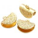 CM102 - Capat panglica auriu cu flori 16*13mm