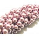 PS8mm-60 - (10 buc.) Perle sticla mov lila sfere 8mm
