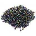 MN2mm-88 - (25 grame) Margele nisip mixt 1 culori irizate 2mm