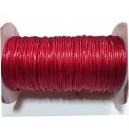 SPOL1mm-33 - (1 metru) Snur poliester cerat rosu cerise 1mm