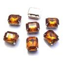 DM19-14 - Distantier montee dreptunghi maro roscat gold 14*10mm